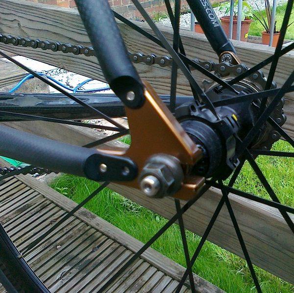 Mavic Ellipse Rear Axle Installed